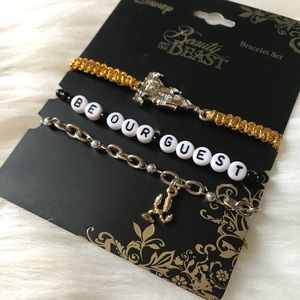 Disney Beauty and the Beast Bracelet Set